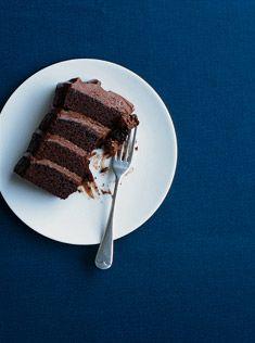 Four Tier Chocolate Layer Cake