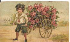 Postcard Birthday Greetings Divided Myrtle Kraft 1911 Genealogy Germany #0516 #Birthday