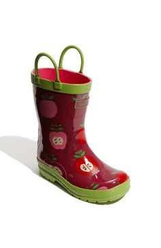 Apple rubber boots.  Wonder if they come in my size?