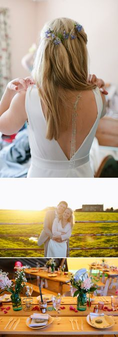 Rustic Barn Wedding In Yorkshire With PapaKata Tipis And Bride In Charlie Brear Gown With Lady Dragon By Vivienne Westwood Shoes And Scarlett Necklace From Rock My Boutique And Groom In Reiss Suit With Images From Tarah Coonan 1