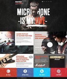 PANTINO - music store on Behance web design Advertising Strategies, Ui Design Inspiration, Daily Inspiration, Design Ideas, Web Ui Design, Brand Design, Marketing Techniques, Ui Web, Design Graphique