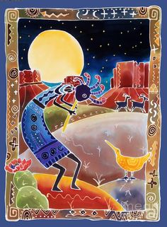 Kokopelli Sings Up The Moon ~ Artist: Harriet Peck Taylor