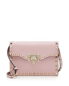 3b9e0c9b06e2 Small rockstud flap crossbody bag by Valentino. Valentino grained ...