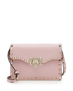 Small rockstud flap crossbody bag by Valentino. Valentino grained ... d98f1fd2554aa