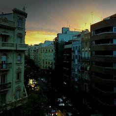 Buenos Dias Ruzafa, good morning. #ruzafagente #Russia #sunriseinthecity #sheperdswarning #valenciaspain