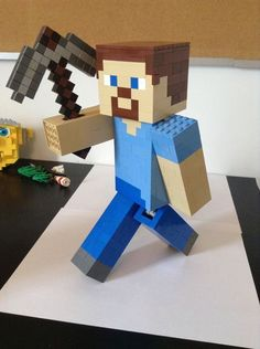 DIY LEGO Steve. my minecraft mad son will love this!