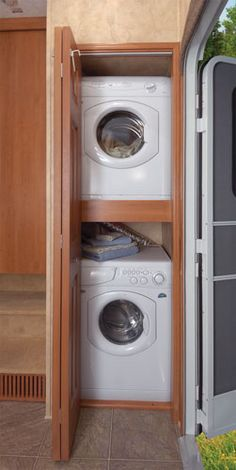 stacking washer dryer on pinterest washer and dryer laundry rooms and laundry. Black Bedroom Furniture Sets. Home Design Ideas