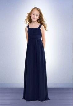 Chiffon Square Empire A-line Long Junior Bridesmaid Dress - Bridesmaid - WHITEAZALEA.com