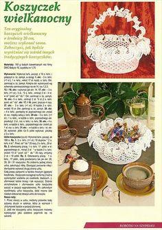 serwetki nowe - TMSGDK - Álbuns da web do Picasa Crochet Books, Crochet Home, Love Crochet, Crochet Doilies, Easter Crochet, Easter Wreaths, Crochet Accessories, Resin Crafts, Easter Baskets