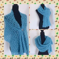 Crochet Flower Scarf, Lace Scarf, Crochet Lace, Bridal Shawl, Bridal Lace, Wedding Shawl, Crochet Wedding, Autumn Clothes, Knitted Poncho