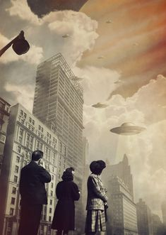 "ufo-the-truth-is-out-there: ""The Surreal Collages of Joseba Elorza …….. (UFO Invasion) """