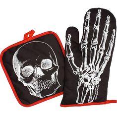 X-Ray Skeleton Kitchen Set by Sourpuss Clothing (Black/White)