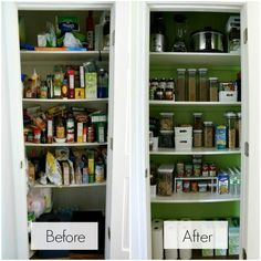 How To Organize A Pantry before and after - #pantry #kitchen #organization