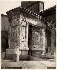 c.1870  PHOTO ITALY ARCH OF THE ARGENTIERI ROME - MANG