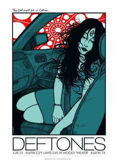 Deftones poster from Austin by Jermaine Rogers.. Soo very interesting..