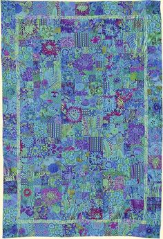Pacific PotPourri Quilt, Kaffe Fassett fabrics, at Glorious Color.  Pattern from Simple Shapes, Spectacular Quilts.