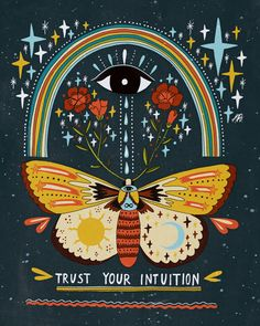 Trust Your Intuition Framed Art Print by Asja Boros - Conservation Walnut - LARGE Wal Art, Posca Art, Hippie Art, Psychedelic Art, Mandala Art, Trust Yourself, Oeuvre D'art, Framed Art Prints, Canvas Prints