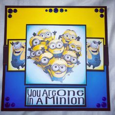 Minions card created by Leanne roebuck