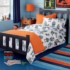 Orange And Blue Kids Room Blue and orang