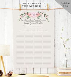 Printable Quaker Marriage Certificate by MissDesignBerryInc