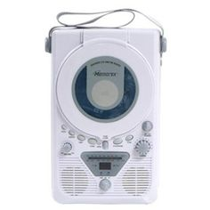 * AM/FM #radio * Water resistant speaker * Vertical CD player with programmable memory * 2 digit LED display * Track skip up/ #down * Repeat function (1/all) * Flo...