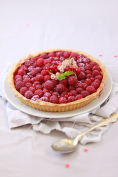 Raspberry and Red Pepper Tart | Fraise & Basilic, July 2013 [Original recipe in French]