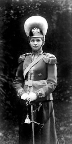 Grand Duchess Maria Nikolaevna of Russia in uniform as Colonel-in-Chief of the Russian Horse Grenadiers, She is the third daughter of Tsar Nicholas II. Tsar Nicolas, Tsar Nicholas Ii, Romanov Sisters, Familia Romanov, Grand Duchess Olga, House Of Romanov, Russian Beauty, Gray Eyes, European History