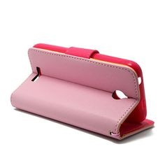 Pink Flip PU Case Cover Wallet Folio Stand Pouch For HTC Desire 510   #UnbrandedGeneric