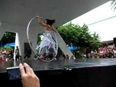 dancing with a giant hoop. oh. my. ohmyohmyohmy.