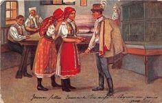 B13219 Czech Folklore National Folk Costumes