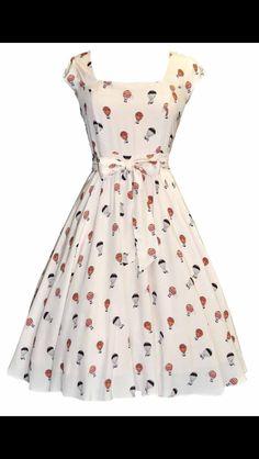 Beautiful hot air balloon dress.