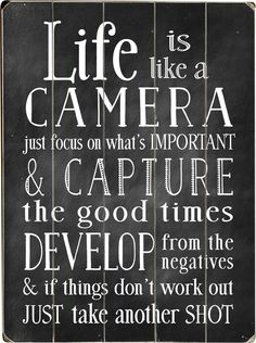 Found it at Wayfair - Life is Like a Camera Textual Plaque