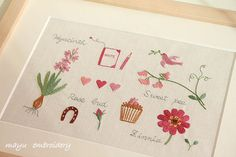 Freestyle Embroidery : Frame of Pink - Mayu Embroidery