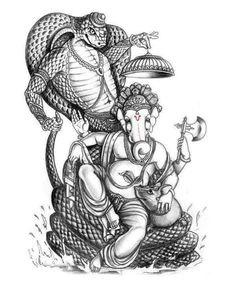 Ideas For Tattoo Elephant God Ganesha Sketch, Shiva Sketch, Ganesha Drawing, Lord Ganesha Paintings, Ganesha Art, Clay Ganesha, Shiva Hindu, Hindu Art, Sri Ganesh