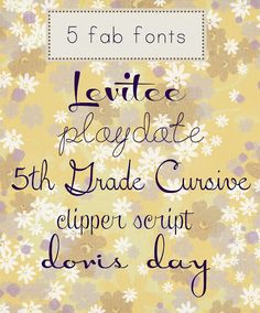 5 Girly Fonts from dafont.com