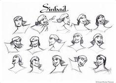 Sinbad expressions concept art