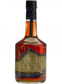 Pure Kentucky XO Small Batch Straight Bourbon Aged about twelve years and bottled at a robust 107 proof, this won the Double Gold Medal at the San Francisco World Spirits Competition. Rye Whiskey, Scotch Whiskey, Bourbon Whiskey, Whiskey Distillery, Whiskey Bottle, Kentucky, Alcoholic Drinks, Cocktails, Pure Products