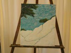 La calanque - astrid gollety Serie paysages acrylique sur toile