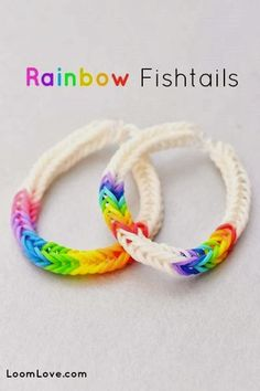 Rainbow Loom Fishtail Bracelet Tutorial by Loom Love