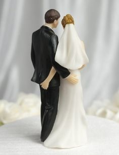 Super Sexy Funny Tender Touch Bride and Groom Wedding Cake Topper Figurine
