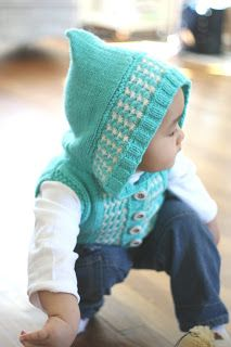 ymymmytm: Kira's hooded vest // knitting pattern