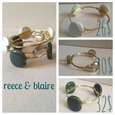 "Reece & Blaire Baubles and Bangles. To purchase, comment ""sold"" along with your PayPal email address! Buy 3 or more get 30% off your entire purchase!   Instagram: ReeceBlaire  #reeceblaire #handmade #instajewelry #blog"