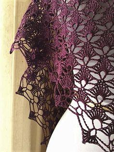 Ravelry: Fenella pattern by Sara Kay Hartmann Crochet Shawls And Wraps, Crochet Scarves, Crochet Clothes, Cotton Crochet, Thread Crochet, Crochet Shrug Pattern, Crochet Patterns, Quick Crochet, Crochet Collar