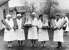 Brock's Firework Factory workers 1930 at Cheam, London