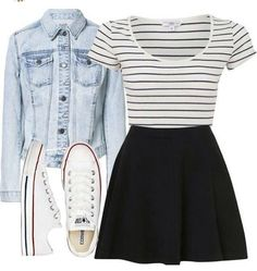 fall outfits with converse, Source by outfits with converse fall Cute Outfits For School, Cute Casual Outfits, Outfits For Teens, Church Outfit For Teens, Cute Outfits With Skirts, Skater Skirt Outfits, Skater Skirt Outfit For Summer, Casual Church Outfits, Black Skater Skirts