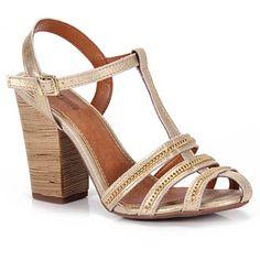 Sandalia Salto Desmond 46508  - Dourado(A)