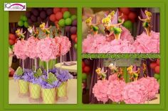 Decorations at a Fairy Party #fairyparty #decorations