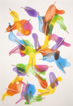Een abstracte vorm. (gesmolten ijsjes)