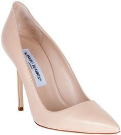 ShopStyle: Manolo Blahnik BB nude leather pump CLASSIC