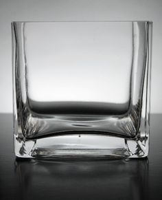 Square Glass Vase 4in - TallBoy centerpieces
